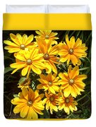 Golden Eyed Susans Duvet Cover