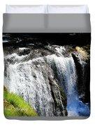Golden Falls, Oregon Duvet Cover