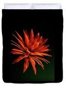 Golden Fireworks Flower Duvet Cover