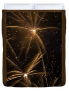 Golden Fireworks Duvet Cover