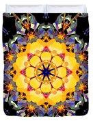 Golden Flower Abstract Duvet Cover