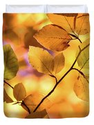 Golden Foliage Duvet Cover