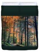 Golden Forest Path Duvet Cover