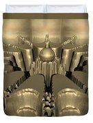 Golden Fractal #1 Duvet Cover
