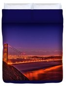 Golden Gate At Dusk Duvet Cover
