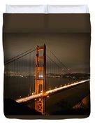 Golden Gate At Night Duvet Cover