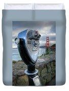 Golden Gate Binoculars Duvet Cover