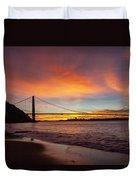 Golden Gate Bridge At Dawn Duvet Cover