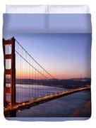 Golden Gate Bridge During Sunrise Duvet Cover