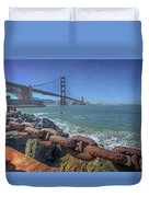 Golden Gate Bridge Duvet Cover by Everet Regal