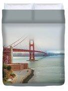 Golden Gate Bridge Fort Point Duvet Cover