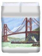 Golden Gate Bridge From Fort Baker, Ca Duvet Cover