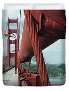 Golden Gate Bridge Low Point Of Cable Duvet Cover