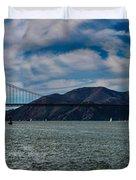 Golden Gate Bridge Panoramic Duvet Cover
