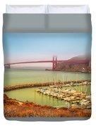 Golden Gate Bridge Sausalito Duvet Cover
