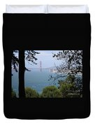 Golden Gate Bridge Through The Trees Duvet Cover