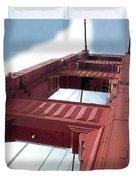 Golden Gate Bridge Tower Duvet Cover