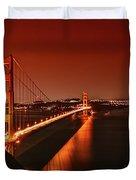 Golden Gate Evening Duvet Cover