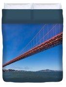Golden Gate From The Bay Duvet Cover