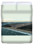 Golden Gate Park And Ocean Beach In San Francisco Duvet Cover