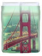 Golden Gate Portrait Duvet Cover