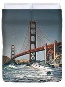 Golden Gate Surf Duvet Cover