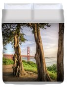 The Trees Of The Golden Gate Duvet Cover