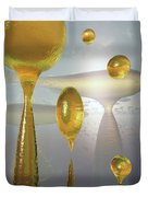 Golden Globs Duvet Cover by Richard Rizzo