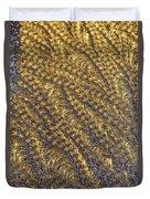 Golden Grains - Hoarfrost On A Solar Panel Duvet Cover