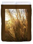 Golden Grass In Sunset Duvet Cover