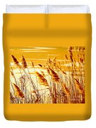 Golden Grasses Duvet Cover