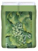Golden Green Grapes Duvet Cover