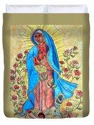 Golden Guadalupe Duvet Cover