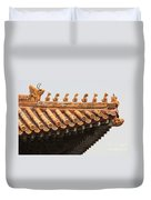Golden Guardians Of The Forbidden City Duvet Cover