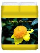 Golden Guinea Happy Birthday Duvet Cover