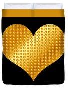 Golden Heart Black  Duvet Cover