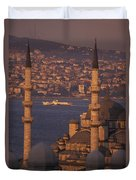 Golden Horn At Sunset From Suleymaniye Duvet Cover