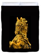 Golden Horse Duvet Cover