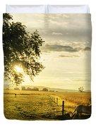 Golden Horse Trot Duvet Cover