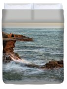 Golden Hour At Sunset Cliffs Duvet Cover
