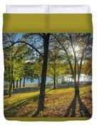 Golden Hour At Tenkiller State Park Duvet Cover