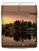 Golden Hour New England Scenery  Duvet Cover