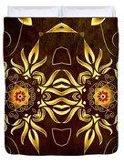 Golden Infinity Duvet Cover