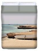 Golden Island Duvet Cover