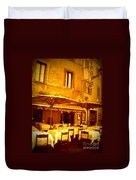 Golden Italian Cafe Duvet Cover