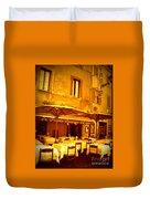 Golden Italian Cafe Duvet Cover by Carol Groenen