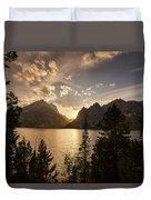 Golden Jenny Lake View Duvet Cover