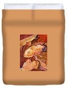 Golden Koi Duvet Cover