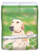 Golden Lab Wally Duvet Cover
