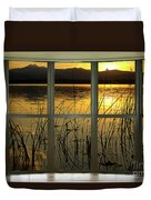 Golden Lake Bay Picture Window View Duvet Cover